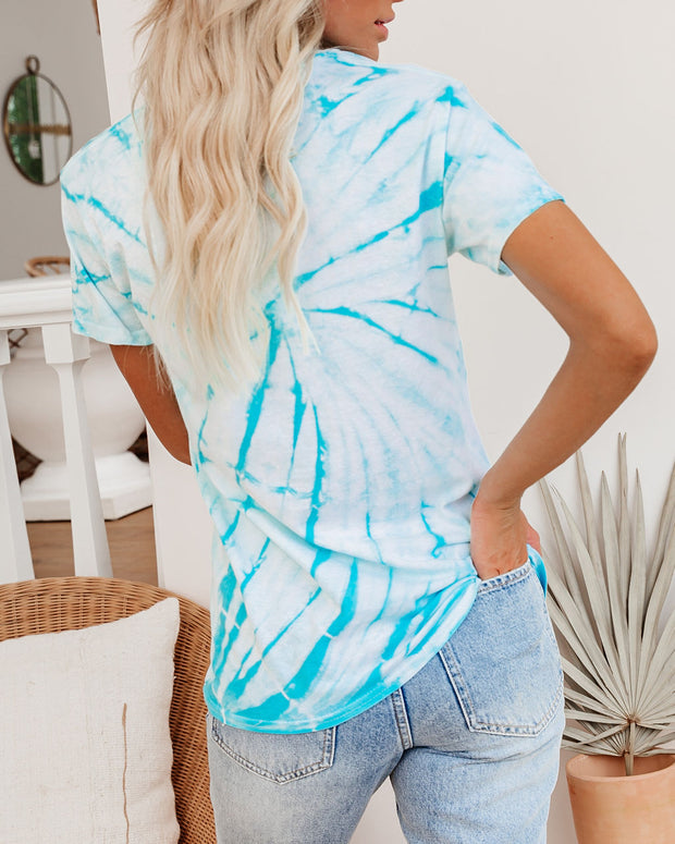 Babe Vibes Cotton Tie Dye Tee - FINAL SALE view 2