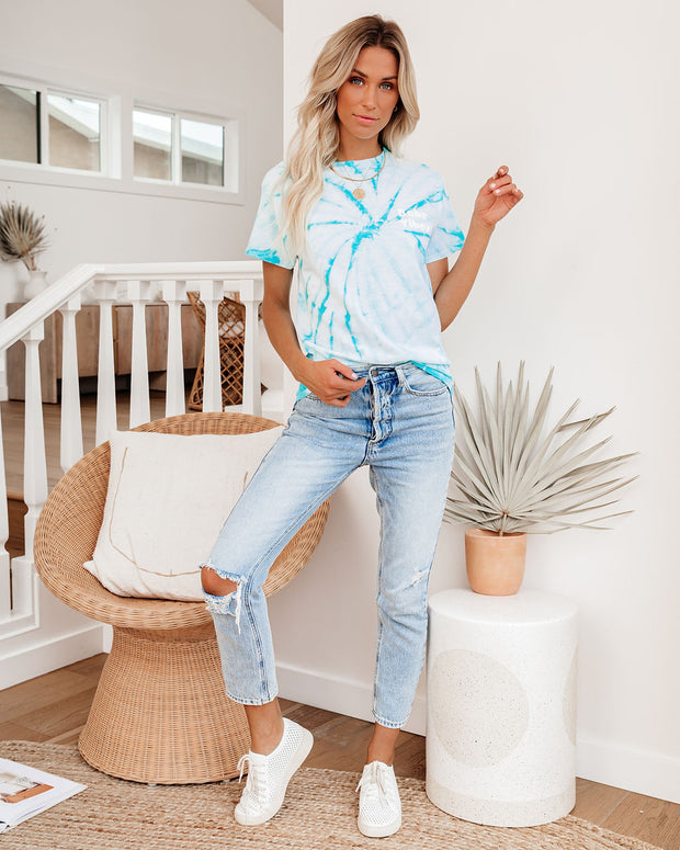 Babe Vibes Cotton Tie Dye Tee - FINAL SALE view 1