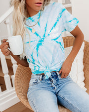 Babe Vibes Cotton Tie Dye Tee - FINAL SALE view 3