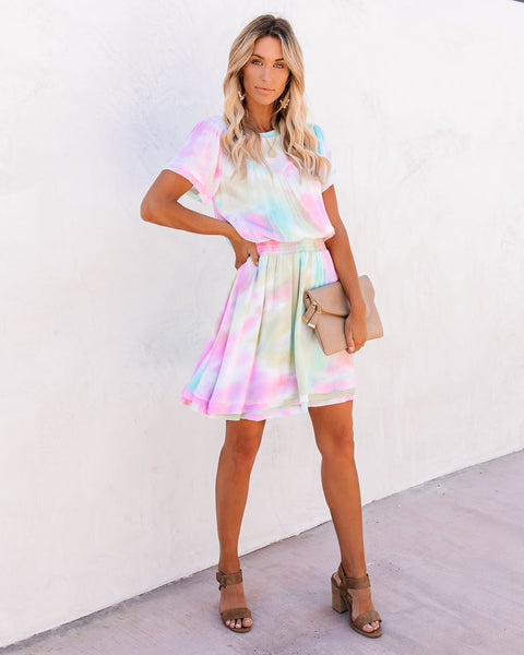 Babylon Tie Dye Smocked Dress