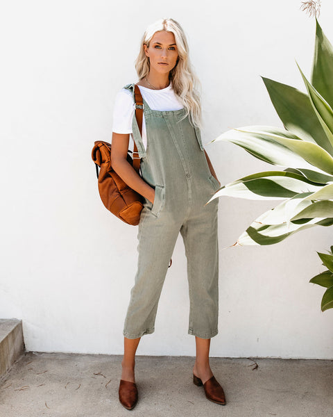 Back Roads Cotton Cargo Pocketed Overalls