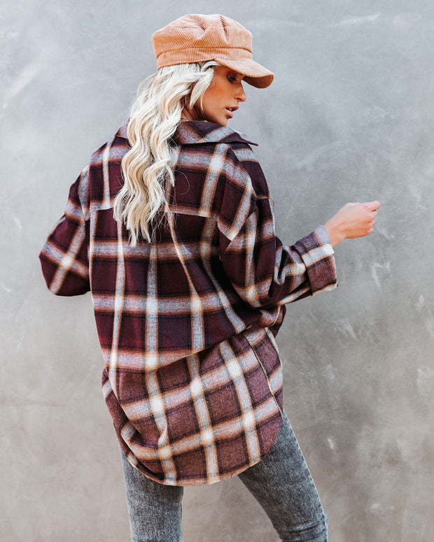 Backwoods Cotton Relaxed Plaid Button Down Top