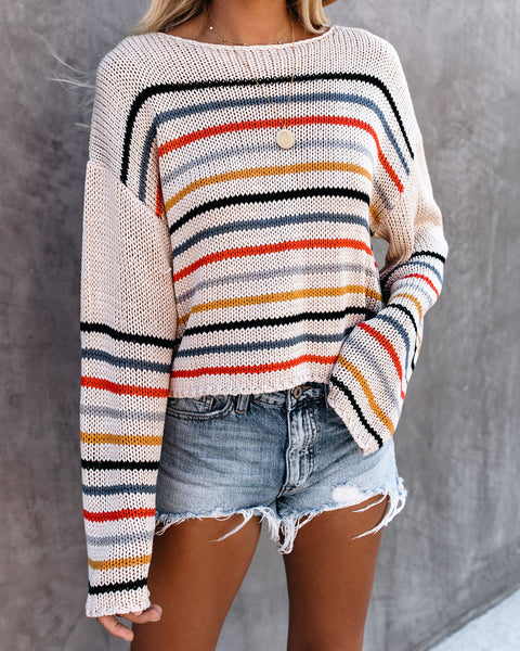Backyard Striped Knit Sweater