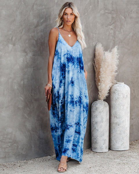 Baker Beach Pocketed Tie Dye Olivian Maxi Dress