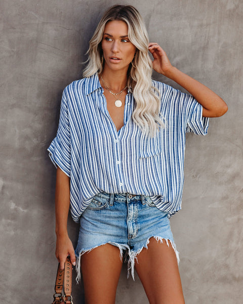 Baldwin Striped Button Down Top