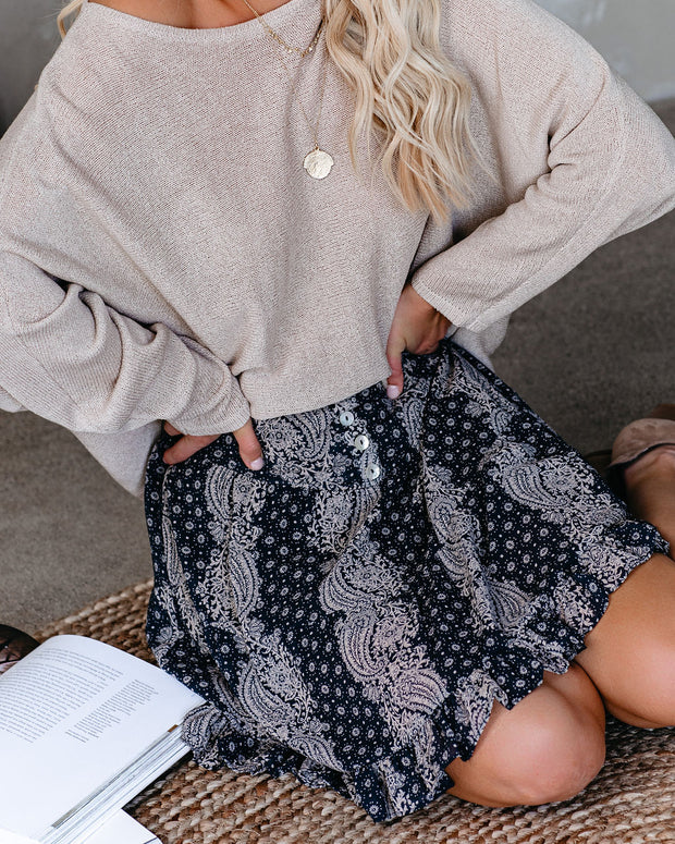 Bandana Printed Tiered Mini Skirt