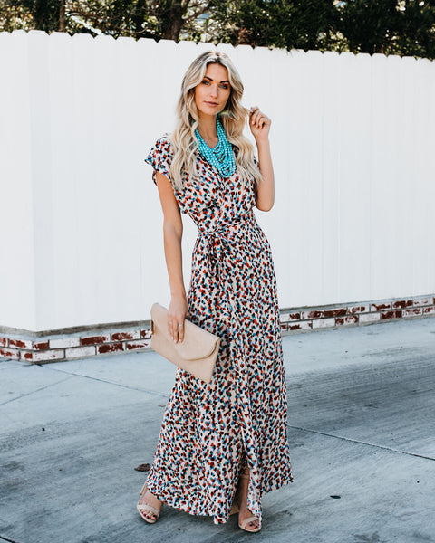 2bfde358d0 Bay Breeze Printed Wrap Maxi Dress - FINAL SALE