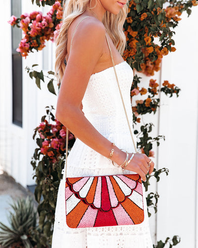 Beachwalk Handmade Beaded Crossbody Clutch