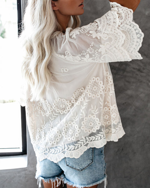 Beatrix Embroidered Lace Blouse