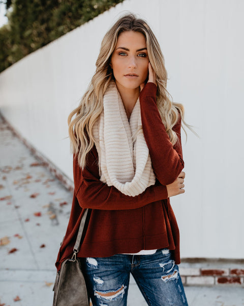 Beaumont Knit Infinity Scarf - Natural - FINAL SALE