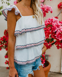 Beautiful Destination Tiered Cotton Top