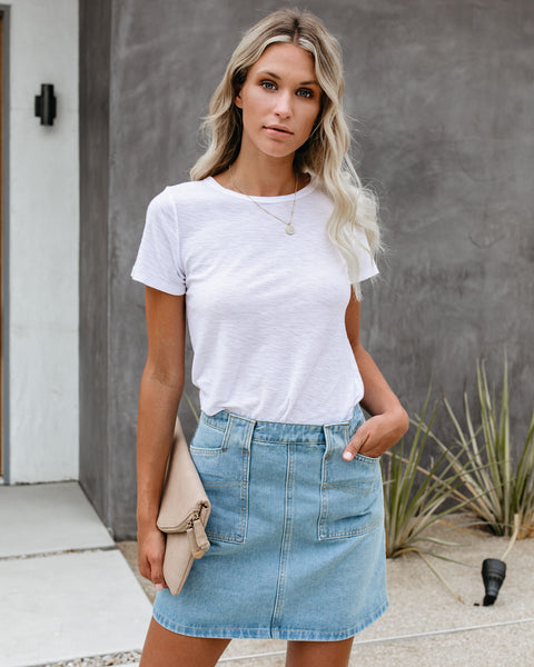 Becca Pocketed Denim Skirt