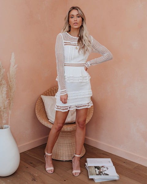 Begin Again Tiered Crochet Lace Dress - FINAL SALE