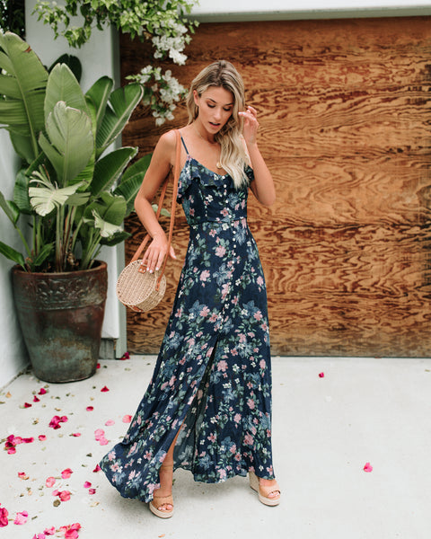 Beholder Of Beauty Floral Maxi Dress