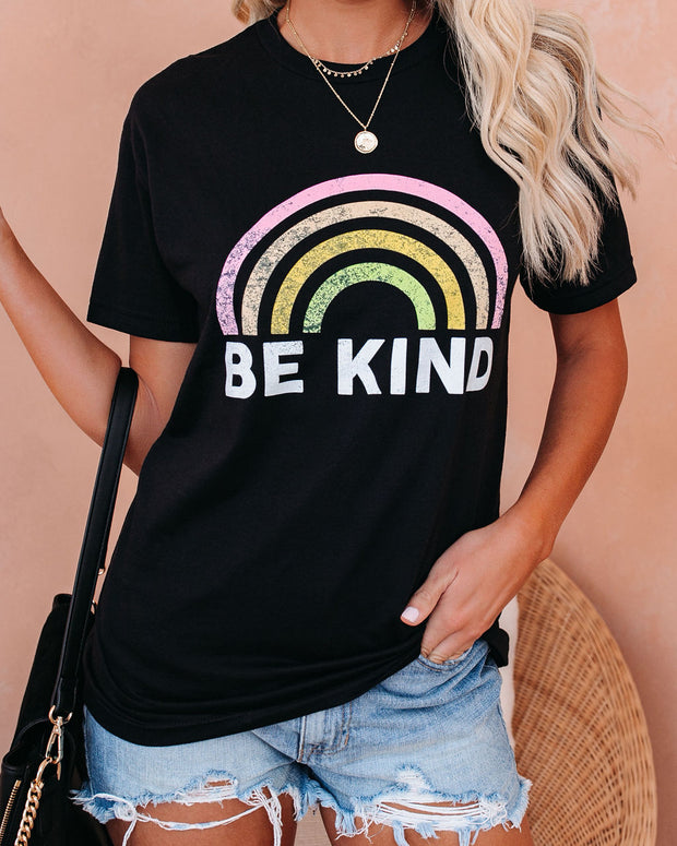 PREORDER - Be Kind Cotton Blend Rainbow Tee view 7
