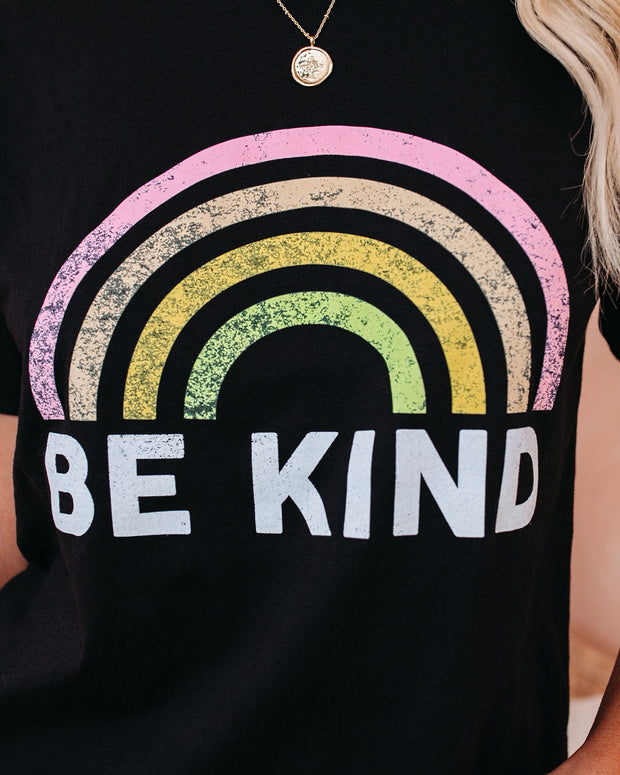PREORDER - Be Kind Cotton Blend Rainbow Tee view 4