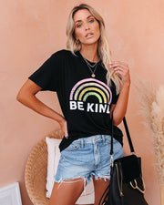 PREORDER - Be Kind Cotton Blend Rainbow Tee view 8