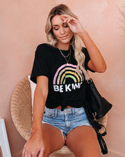 PREORDER - Be Kind Cotton Blend Rainbow Tee view 9