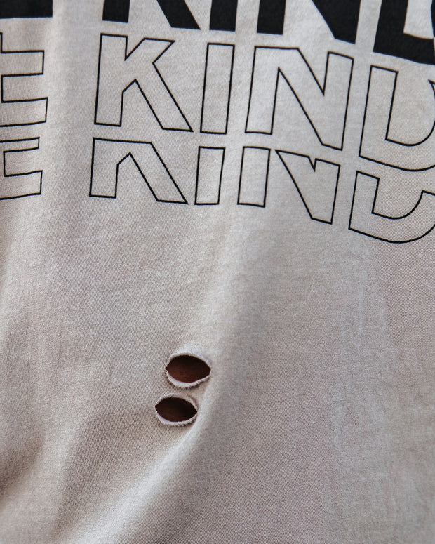 Be Kind Distressed Cotton Tee