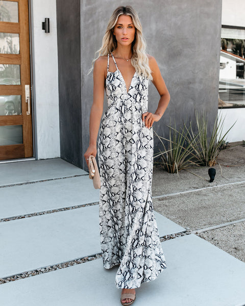 Believe It Snake Print Maxi Dress