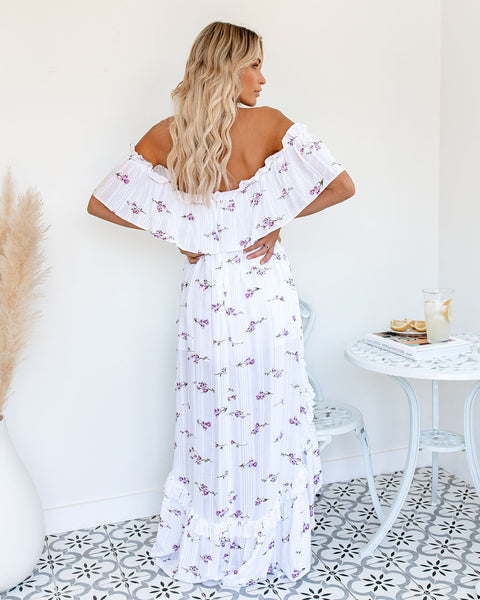 Belize Pocketed Off The Shoulder High Low Maxi Dress - FINAL SALE