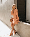 Bell Sleeve Floating Lotus Dress