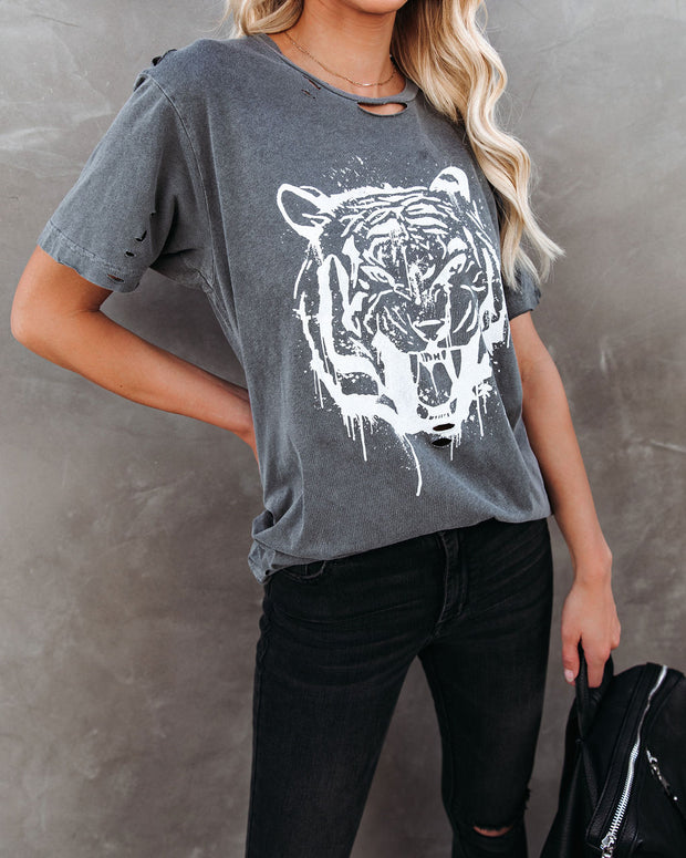 Bengal Distressed Cotton Tiger Tee