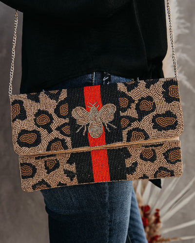 PREORDER - Best Beehive-Ior Handmade Beaded Crossbody Clutch