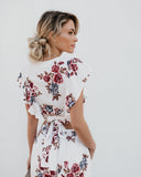 Best Buds Floral Wrap Top - FINAL SALE