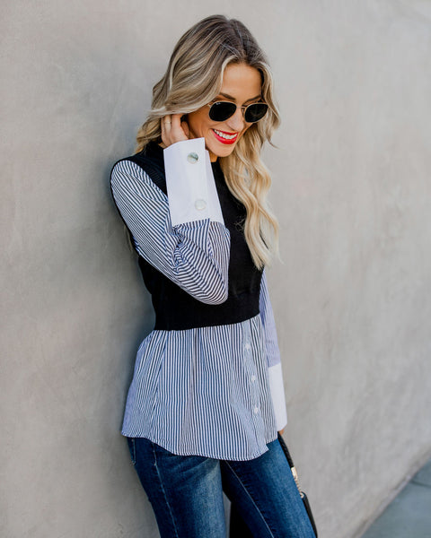 Best In Class Contrast Blouse