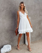 Best Of My Love Pocketed Lace Ruffle Dress