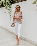 Best Wishes Button Down Sweater - Taupe