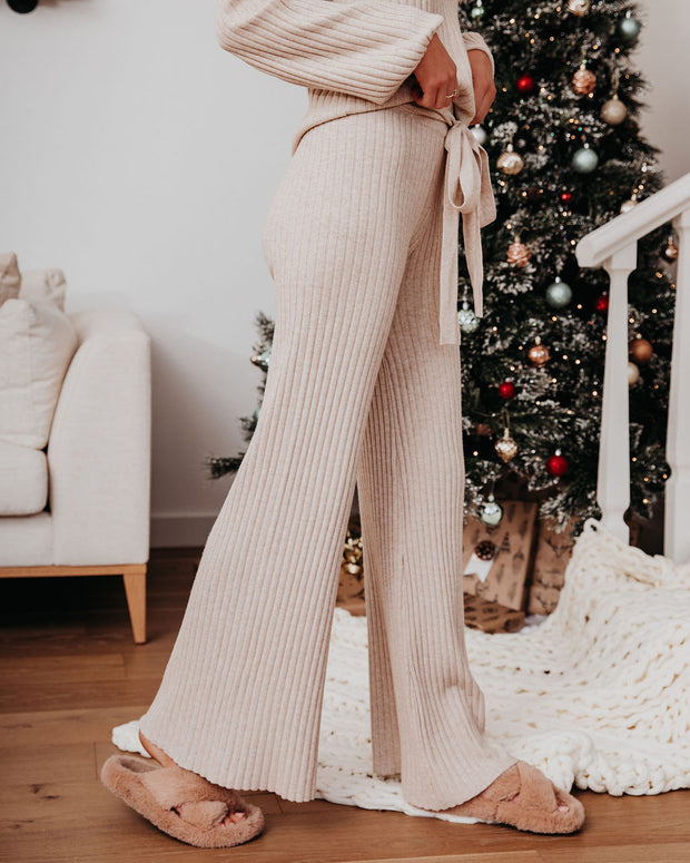 Be Thankful Ribbed Wide Leg Knit Pants