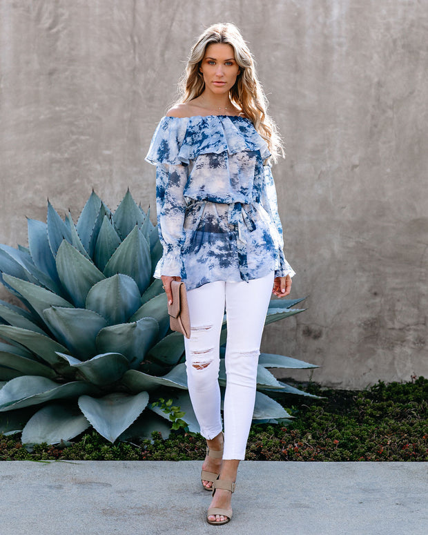 Better By The Sea Printed Ruffle Tunic - FINAL SALE