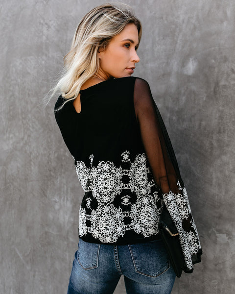 Better Than A Dream Embroidered Lace Top