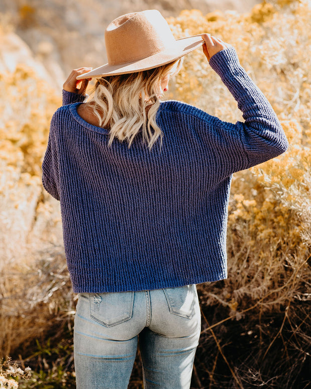 Better When Together Cotton Knit Sweater - Royal Blue - FINAL SALE