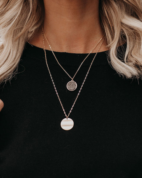 Beyond Infinity Layered Druzy Necklace