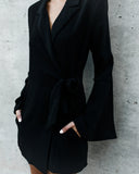 Valor Blazer Pocketed Wrap Dress