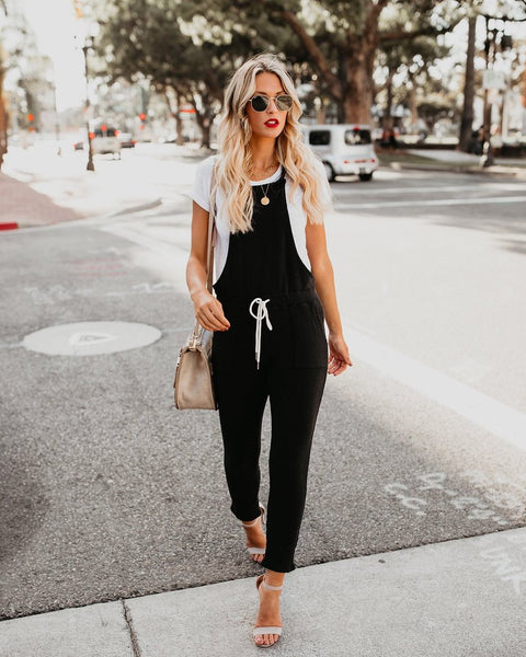 Besties Pocketed Knit Overalls