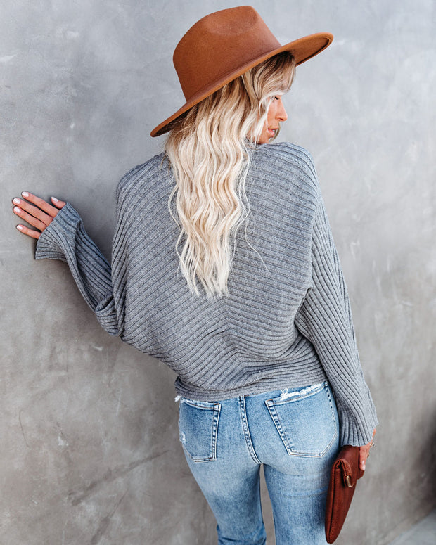 Blurred Lines Ribbed Turtleneck Sweater - FINAL SALE view 2