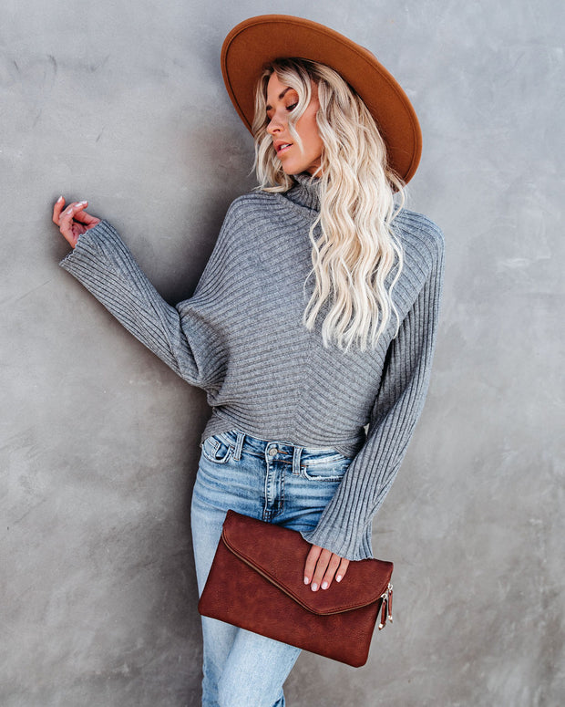 Blurred Lines Ribbed Turtleneck Sweater - FINAL SALE view 7
