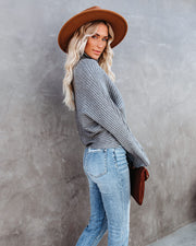Blurred Lines Ribbed Turtleneck Sweater - FINAL SALE view 8