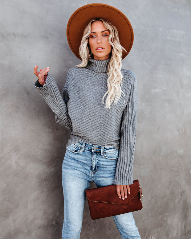 Blurred Lines Ribbed Turtleneck Sweater - FINAL SALE view 1