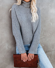 Blurred Lines Ribbed Turtleneck Sweater - FINAL SALE view 9