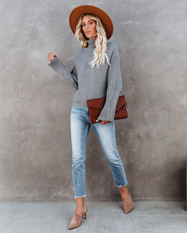 Blurred Lines Ribbed Turtleneck Sweater - FINAL SALE view 11