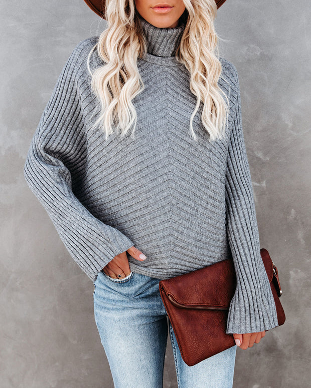 Blurred Lines Ribbed Turtleneck Sweater - FINAL SALE view 5