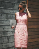Be Still My Heart Lace Dress - Blush