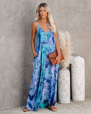 Boardwalk Stroll Pocketed Tie Dye Olivian Maxi Dress
