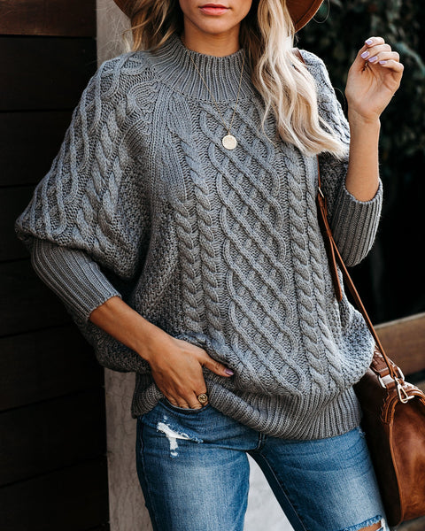 Bobsled Dolman Knit Sweater - Grey - FINAL SALE