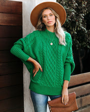 Bobsled Dolman Knit Sweater - Kelly Green